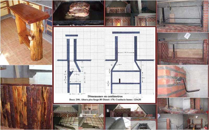 Construccin de quinchos construccin de quinchos para asados for Fogones rusticos en ladrillo