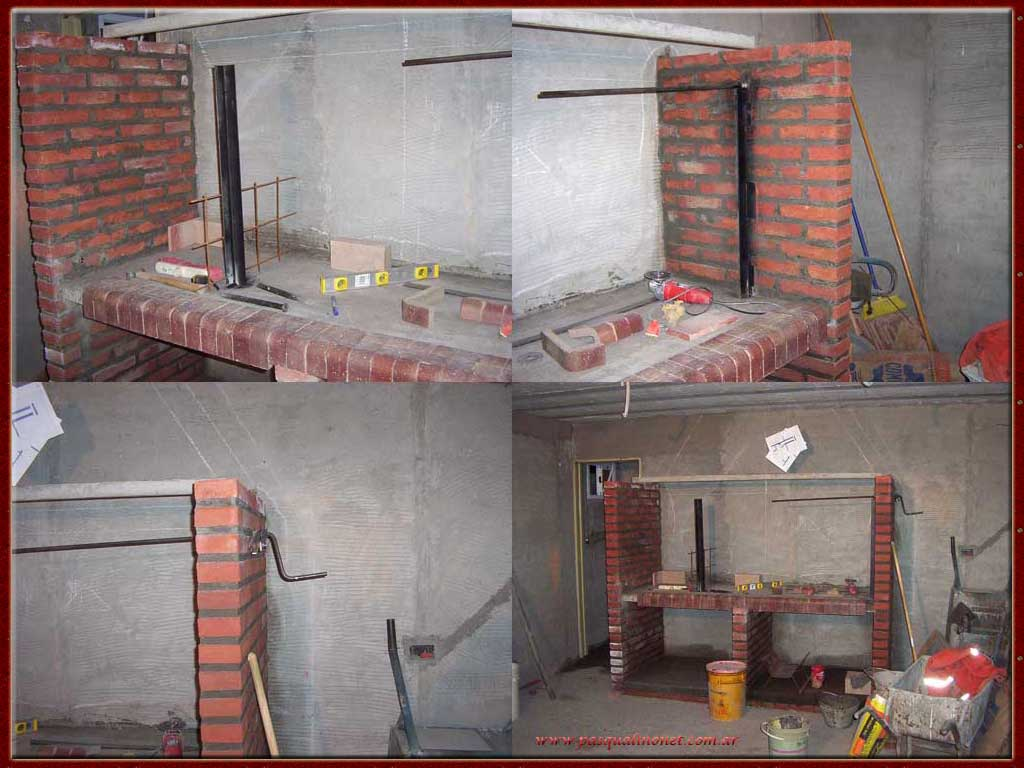 Parrillas construidas for Parrilla de material para casa