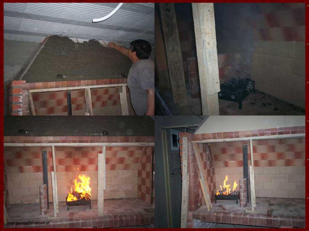 Como hacer chimenea de obra trendy puertas para chimeneas for Chimeneas de obra sin humo